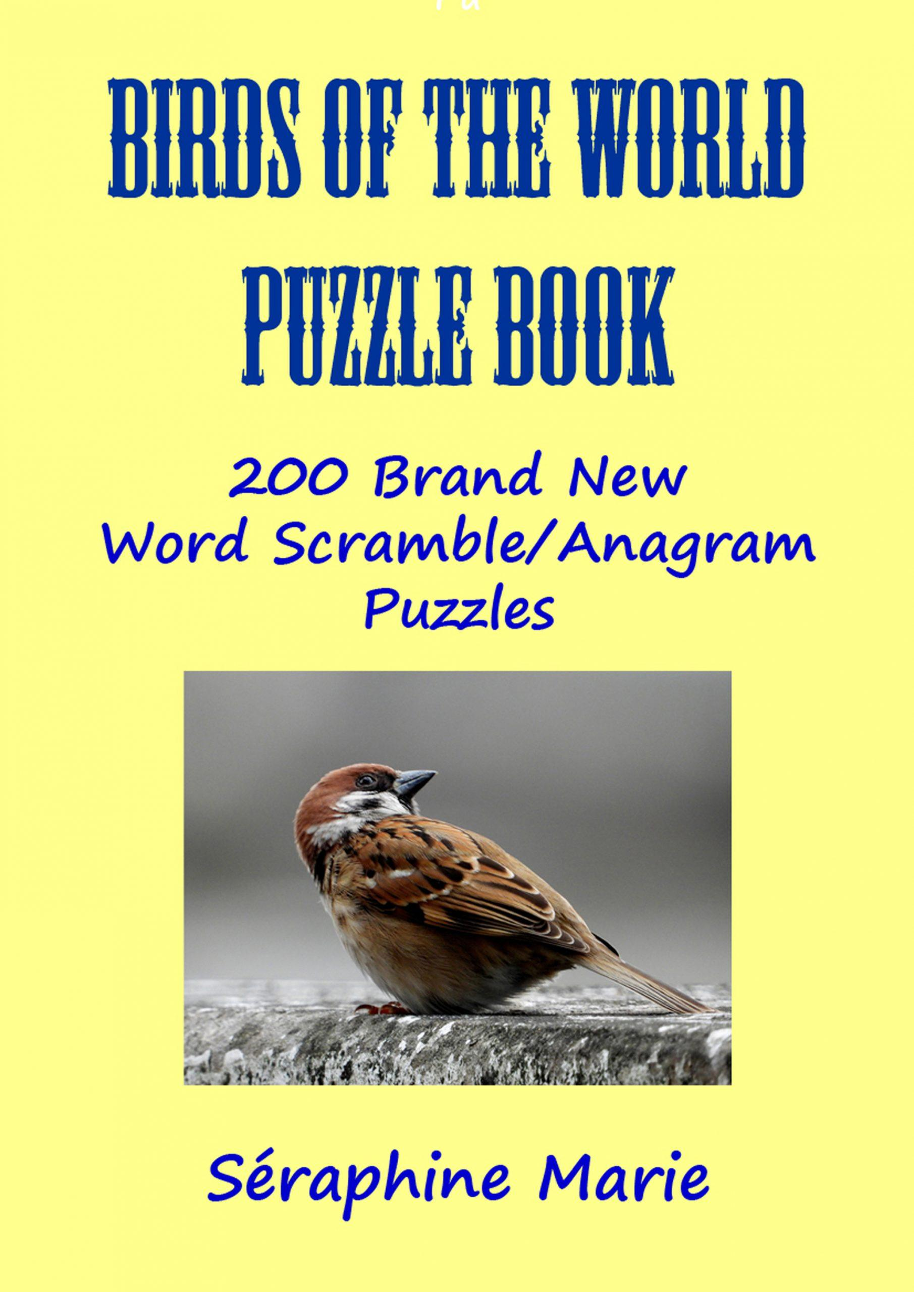 birds of the word word scramble puzzle book